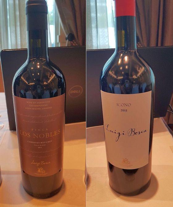 Luigi Bosca Finca Los Nobles Cabernet Bouchet 2013 and Icono 2011 wines