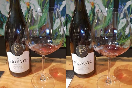 Privato Grande Reserve Pinot Noir 2014 and 2015