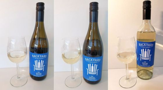 Backyard Vineyards Social Pinot Gris, Chardonnay, and Bacchus 2018