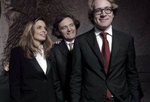 Pierre-Emmanuel, Vitalie, and Clovis Taittinger (left to right)