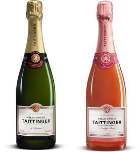 Taittinger Brut Réserve and Prestige Rosé Champagnes
