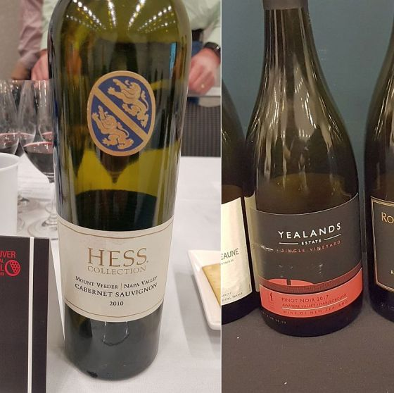 The Hess Collection Mount Veeder Cabernet Sauvignon 2010 and Yealands Family Wines Estate Single Vineyard Pinot Noir 2017 wines