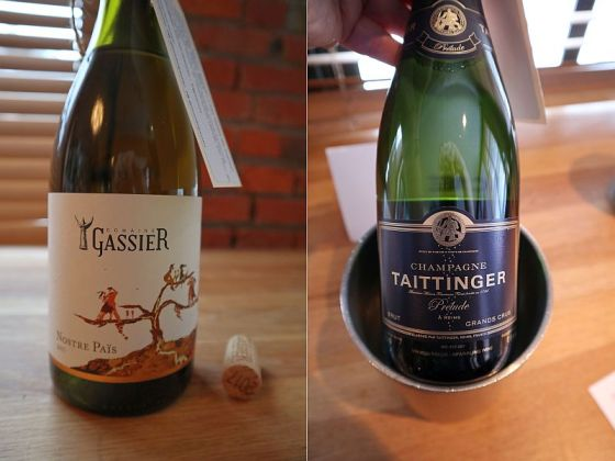 Domaine Michel Gassier Nostre Pais Blanc 2017 and Champagne Taittinger Prelude Grand Crus NV