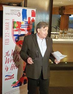 Harry Hertscheg the Executive Director of VanWineFest speaking to us