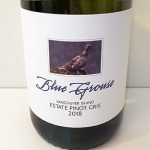 Blue Grouse Estate Pinot Noir 2018 label