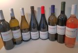 Lineup of Crowsnest Vineyards wines