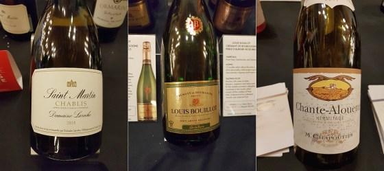 Advini Domaine Laroche Chablis - St. Martin 2018, Boisset Effervescence Louis Bouillot Cremant de Bourgogne Perle Rare 2015, and M. Chapoutier Hermitage Chante-Alouette 2017 wines at VanWineFest 2020