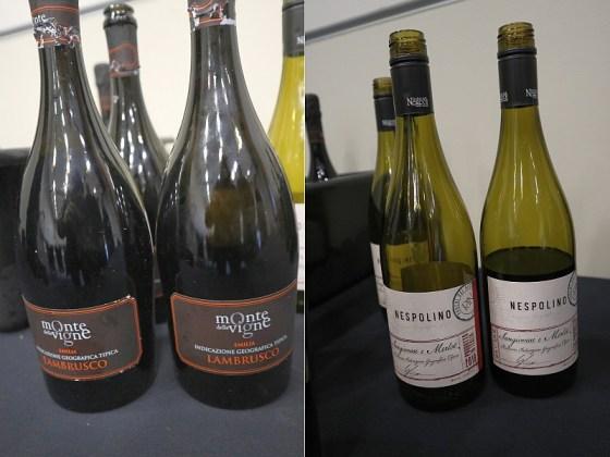 Monte Delle Vigne Lambrusco Selezione 2018 and Poderi dal Nespoli Nespolino Romagna 2018 wines at VanWineFest 2020