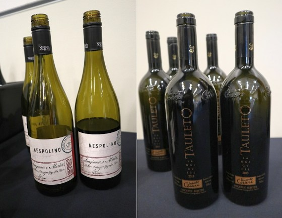 Poderi dal Nespoli Nespolino Romagna 2018 and Umberto Cesari Rubicone Sangiovese Tauleto 2013 wines at VanWineFest 2020