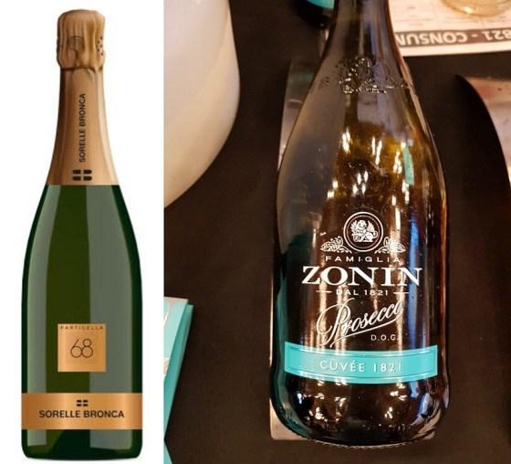 Sorelle Bronca Valdobbiadene Prosecco Superiore DOCG Particella 68 Brut 2018 and Zonin1821 Prosecco Brut Cuvee 1821 DOC NV wines at VanWineFest 2020