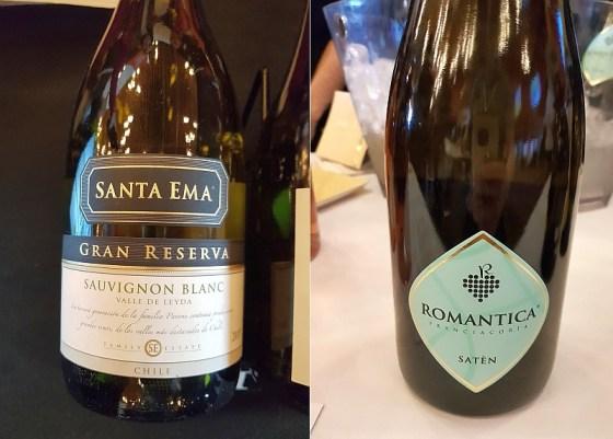 Vina Santa Ema Gran Reserva Sauvignon Blanc 2019 and Avanzi Giovanni Franciacorta Saten Romantica NV wines at VanWineFest 2020
