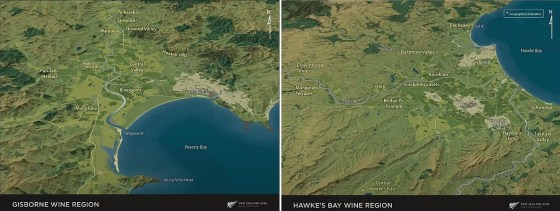 Gisborne and Hawke's Bay Wine Regions in New Zealand