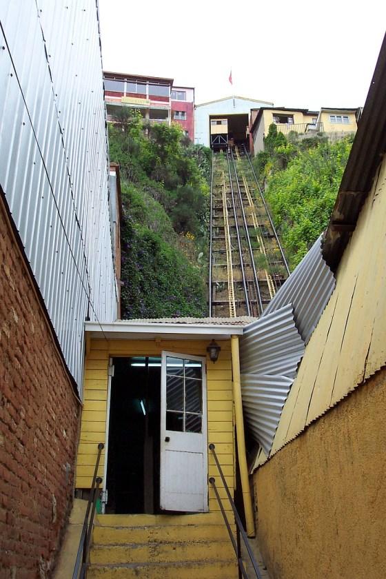 A funicular in Valparaiso