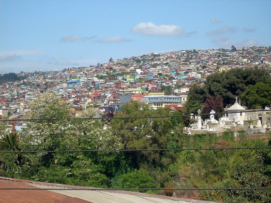 The colourful houses of Valparaiso