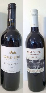 Gold Hill Cabernet Merlot 2017 and Monte Creek Ranch Cabernet Merlot 2017