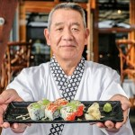 Hoshi's California Roll with Dungeness Crab at The Sandbar Seafood Restaurant