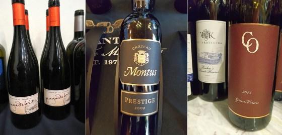 Poderi dal Nespoli Pagadebit 2017, Vignobles Alain Brumont Chateau Montus Cuvee Prestige 2002, and Korta Katarina Reuben's Private Reserve 2008 wines