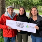 Paul, Paula, and Cristina Brunner thank the community for helping feeding Cowichan families in 2020