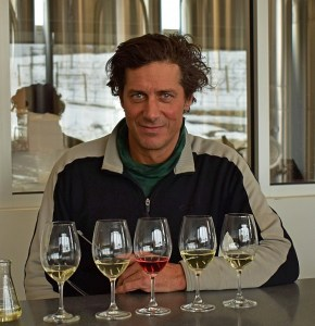 Grant Stanley with a Flight of White wines