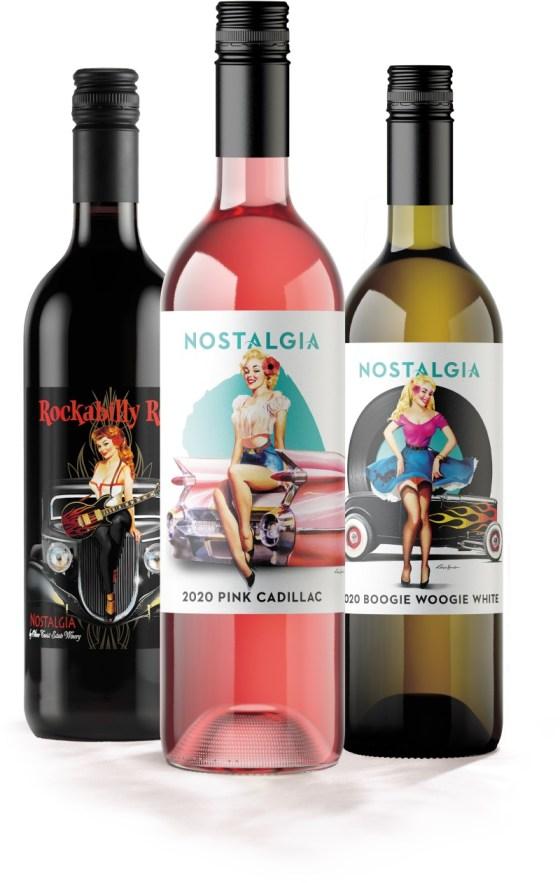 Nostalgia Pin Up Series wines