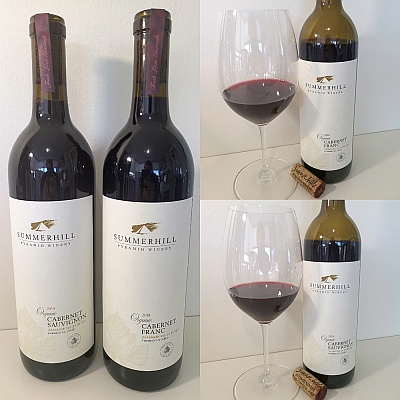 Summerhill Pyramid Winery Organic Cabernet Franc 2018 and Cabernet Sauvignon 2019