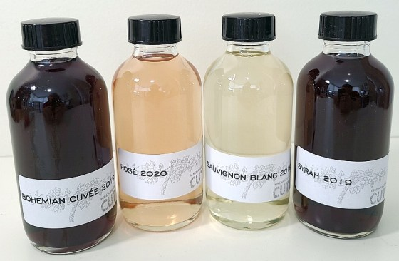 Winemaker's CUT sample wines for the virtual tasting
