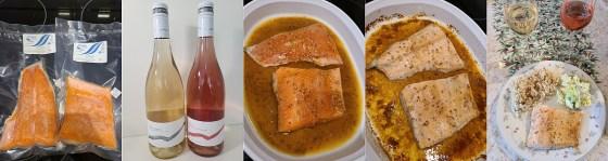 Brown Sugar Mustard Glazed Steelhead Salmon with Mt. Boucherie Pinot Gris and Rose 2020