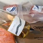 Organic Ocean seafood and BC wine