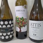 Paco & Lola Albariño 2019, Rectoral do Umia Abellio Albariño 2019, and Attis Albariño Lias Finas 2018 wines