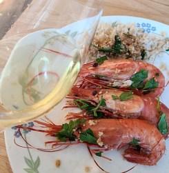 Rectoral do Umia Abellio Albariño 2019 with BC spot prawns pairing