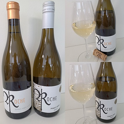 Roche Wines Tradition Pinot Gris 2018 and Texture Pinot Gris 2020