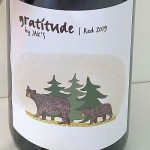 Gratitude Red by JAK's 2019 wine label