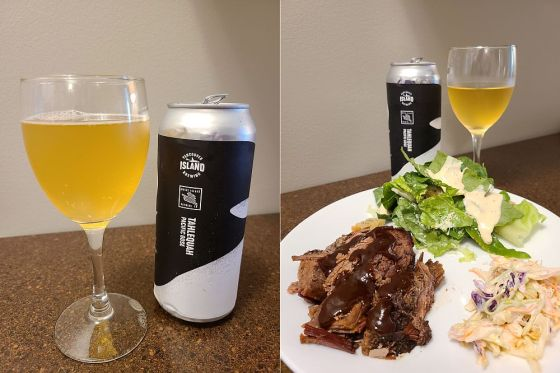 Mayne Island Brewing Co Pacific Gose and BBQ Pairing from Memphis Blues BBQ