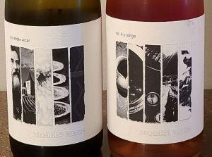 Modest Wines the elder vicar 2019 and no. 4 orange 2020 labels