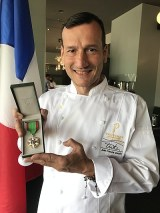 Provence Marinaside Owner and Chef Jean-Francis Quaglia and his Medal of the Ordre du Merite Agricole