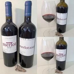 Upper Bench Estate Winery Estate Grown Merlot 2017 and Merlot 2018