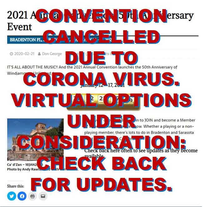 2021 Annual Convention Cancelled