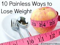 Painless methods of weight lose