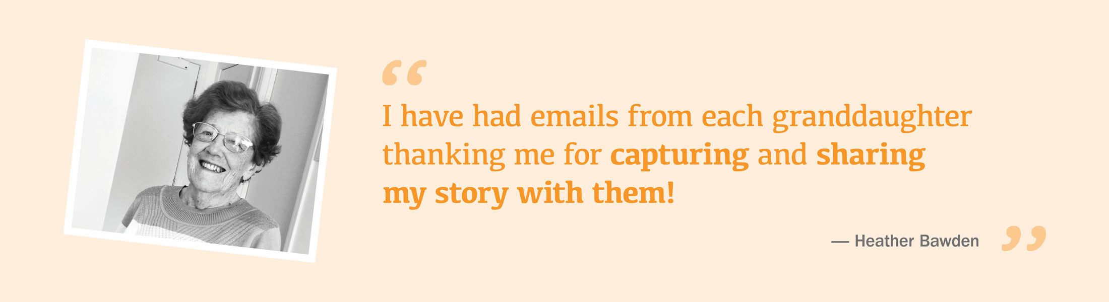 My word testimonial capturing and sharing stories