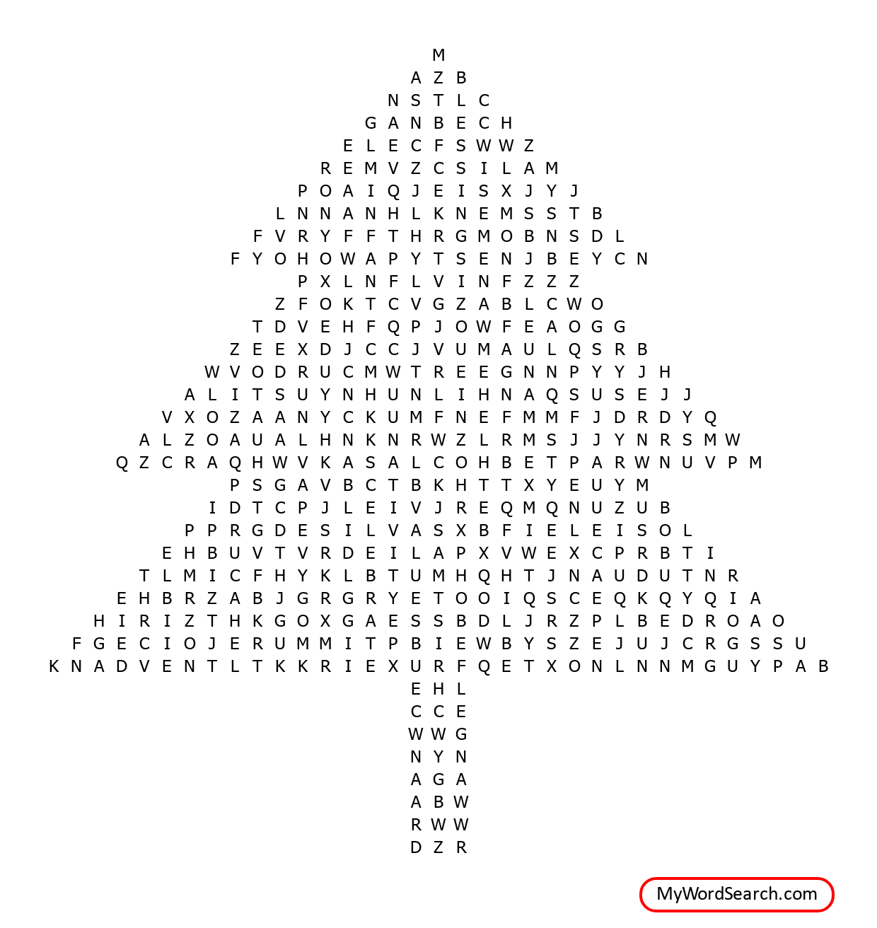 Abc Christmas Word Search