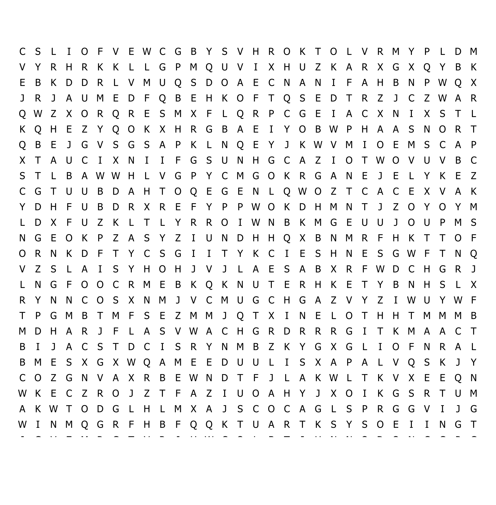 Career Clusters Word Search