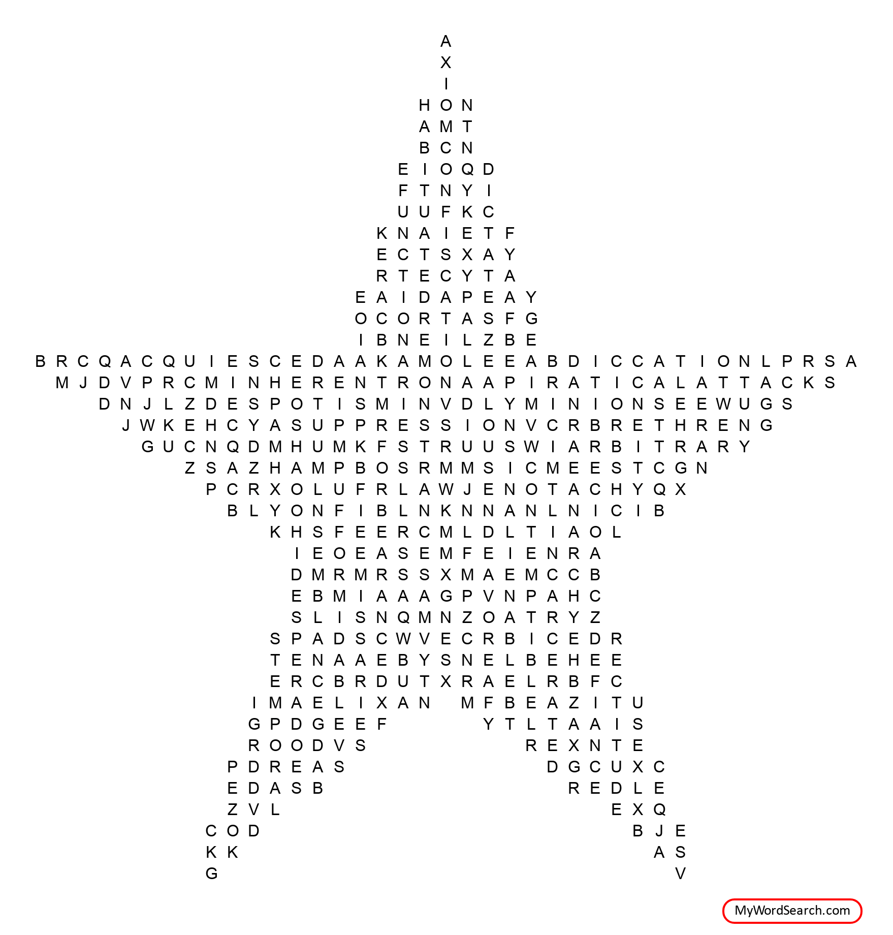 Declaration Of Independence Wordsearch