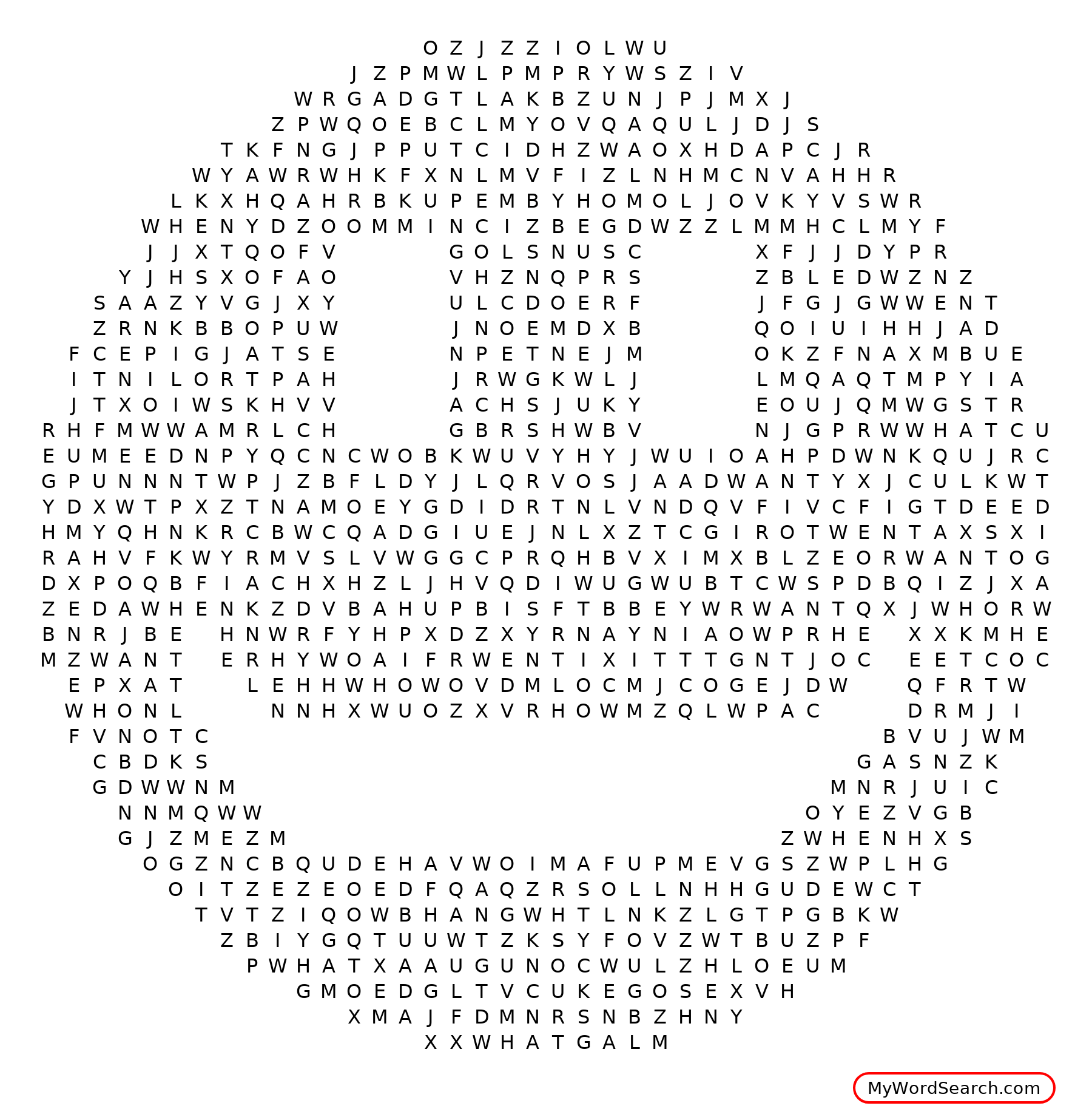 Happy Face Word Search
