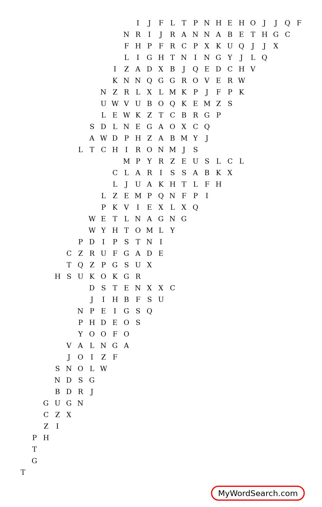 Lightning Thief Word Search