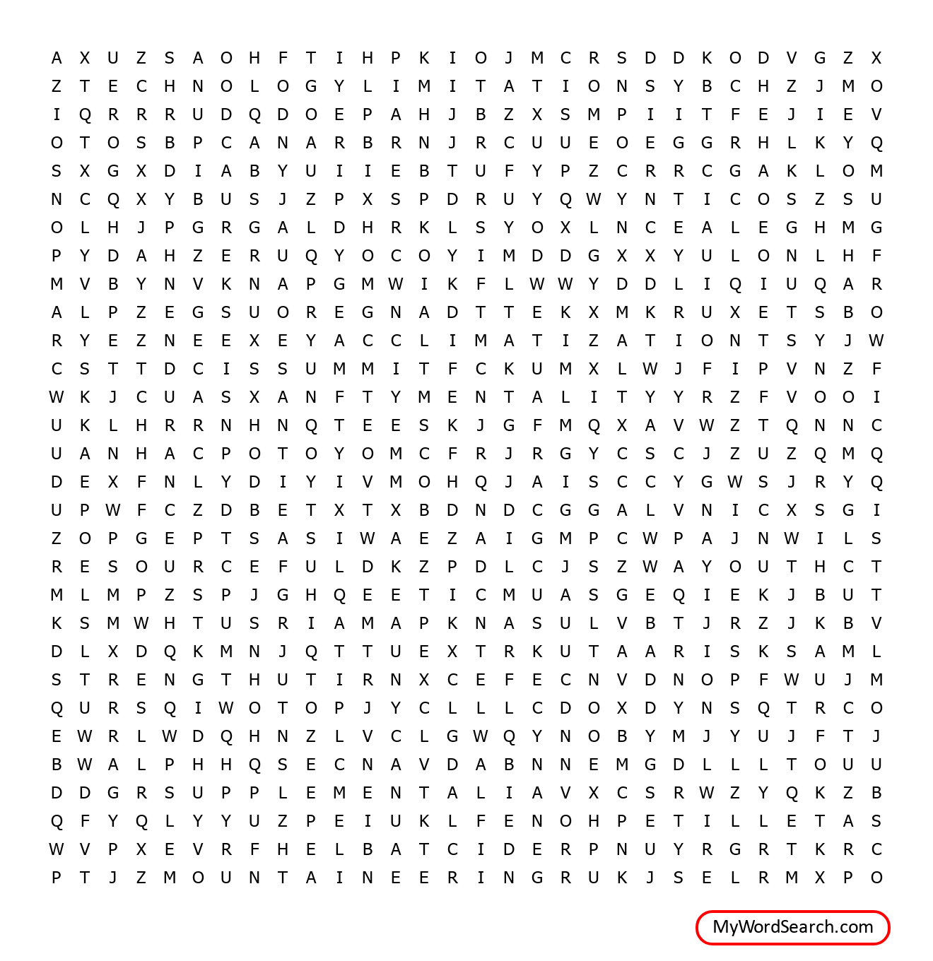 Mount Everest Word Search