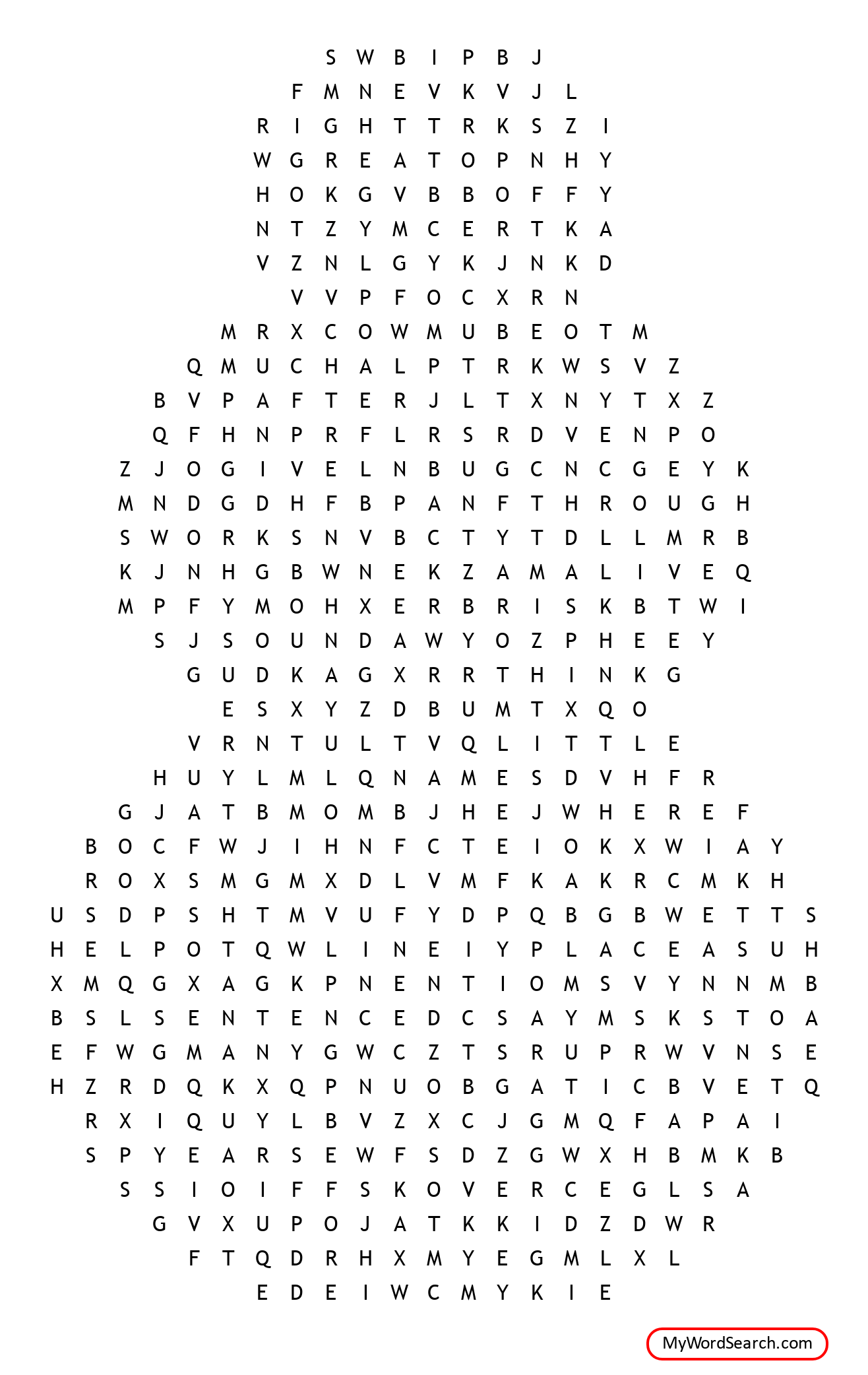 Snowman Word Search