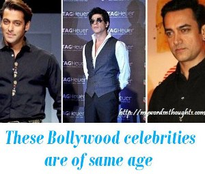 Bollywood celebrities of same age