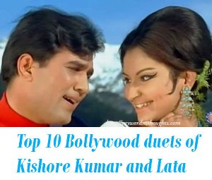 Bollywood duets of Kishore Kumar and Lata Mangeshkar