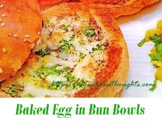 Baked Egg in Bun Bowls