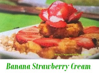 Banana Strawberry Cream